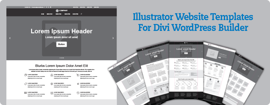 Divi Illustrator Website Templates