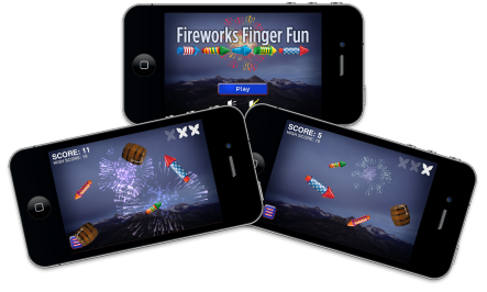 Fireworks Finger Fun Game