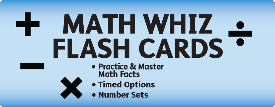 Math Whiz Flash Cards